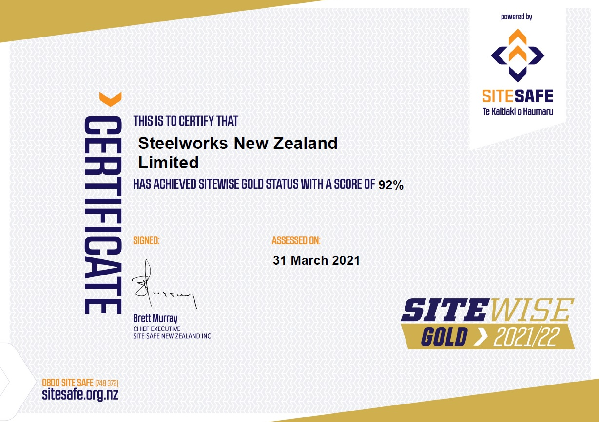 SiteWise Gold Certificate